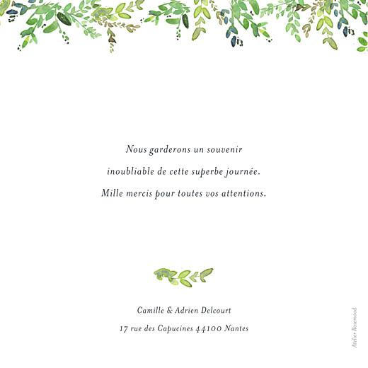 Carte de remerciement mariage Canopée 1 photo vert - Page 2