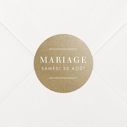 Stickers pour enveloppes mariage L'essentiel kraft - Vue 2