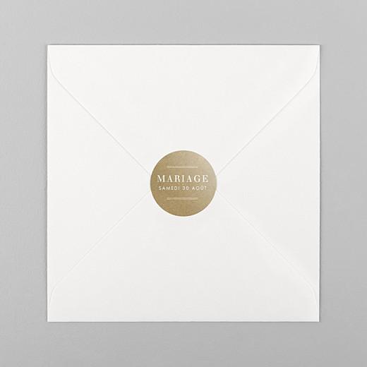 Stickers pour enveloppes mariage L'essentiel kraft - Vue 1
