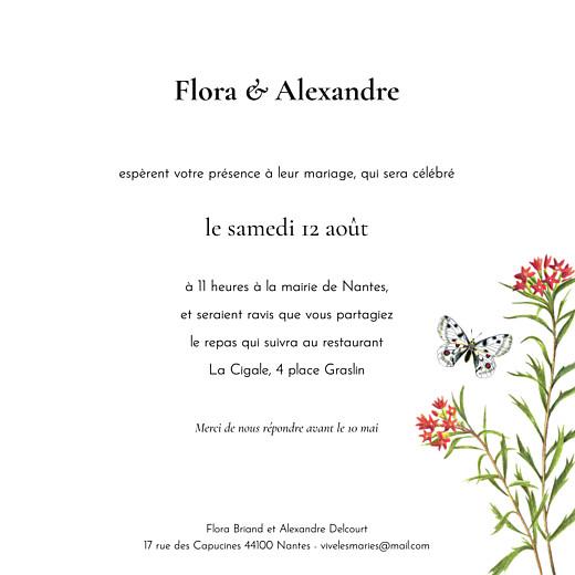 Faire-part de mariage Mélopée (4 pages) blanc - Page 3