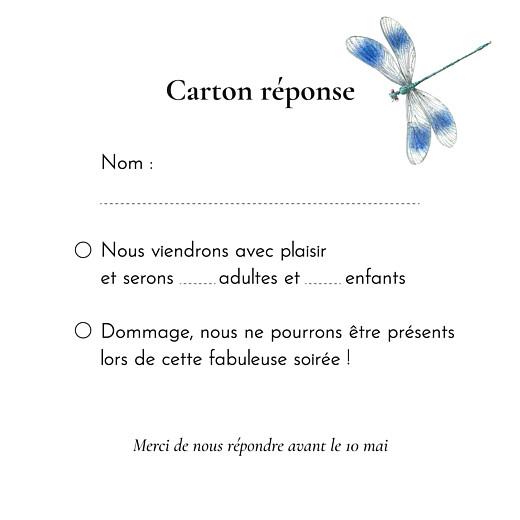 Carton réponse mariage Mélopée blanc - Page 2