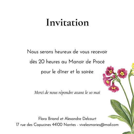 Carton d'invitation mariage Mélopée blanc - Page 2