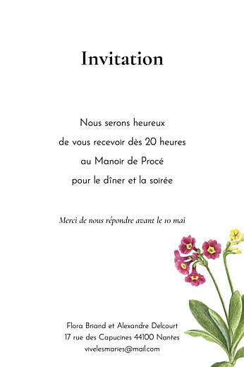 Carton d'invitation mariage Mélopée portrait blanc - Page 2