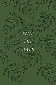 Save the date classique joli sous-bois vert