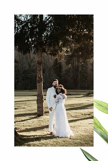 Carte de remerciement mariage Mélopée (4 pages) blanc - Page 2