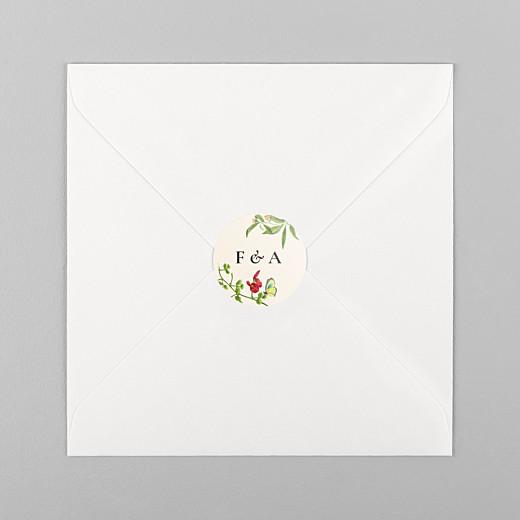 Stickers pour enveloppes mariage Mélopée beige - Vue 1