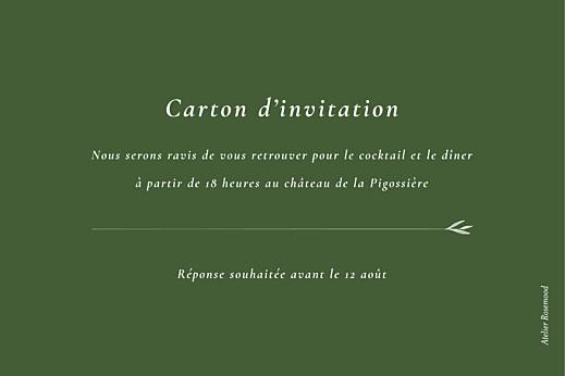Carton d'invitation mariage Joli sous-bois vert - Page 2