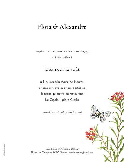 Faire-part de mariage Mélopée portrait blanc - Page 2