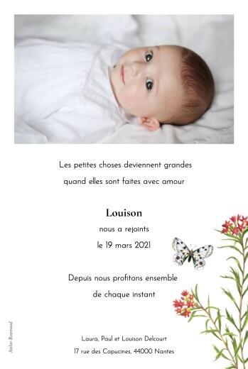 Faire-part de naissance Mélopée (portrait) mésange - Page 2