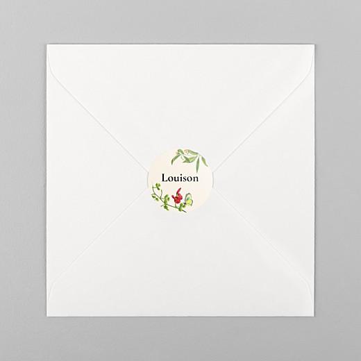 Stickers pour enveloppes naissance Mélopée beige - Vue 1