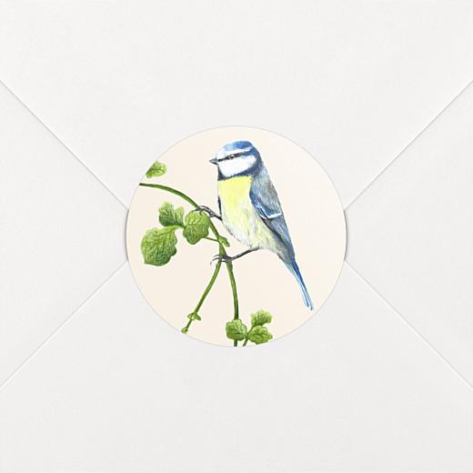 Stickers pour enveloppes naissance Mélopée mésange - Vue 2