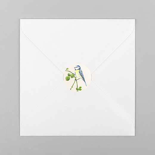 Stickers pour enveloppes naissance Mélopée mésange - Vue 1