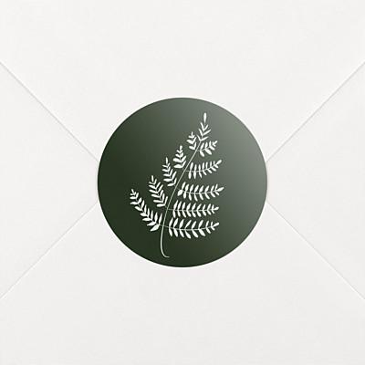 Stickers mariage joli sous-bois vert