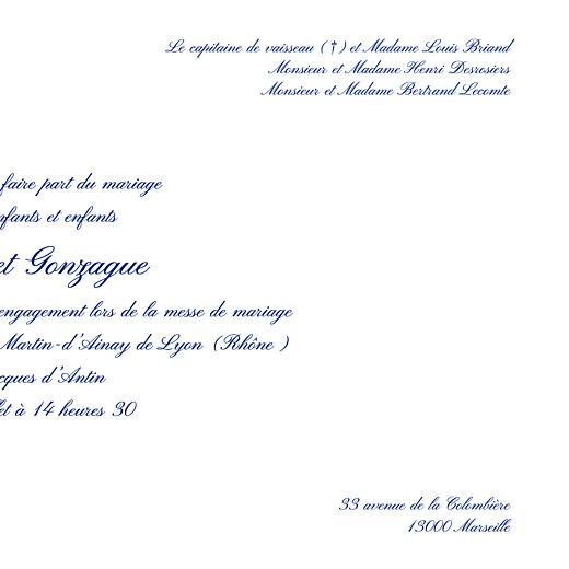 Faire-part de mariage Élégant photo blanc - Page 3
