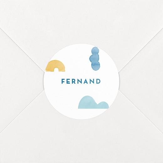 Stickers pour enveloppes naissance Totem bleu - Vue 2