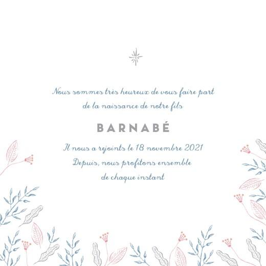 Faire-part de naissance Allégresse (4 pages) bleu - Page 3