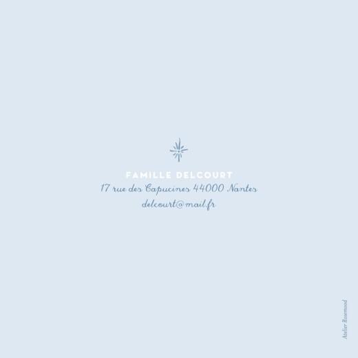 Faire-part de naissance Allégresse (4 pages) bleu - Page 4