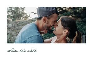 Save the Date Eucalyptus blanc