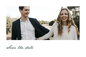 Save the date petite alma  eucalyptus blanc