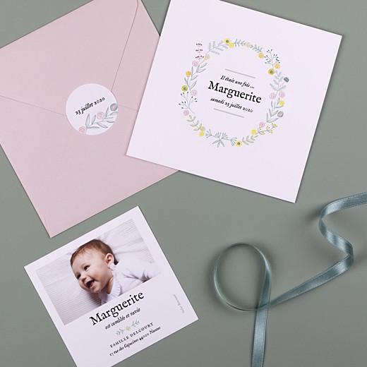 Stickers pour enveloppes naissance Douceur champêtre blanc - Gamme