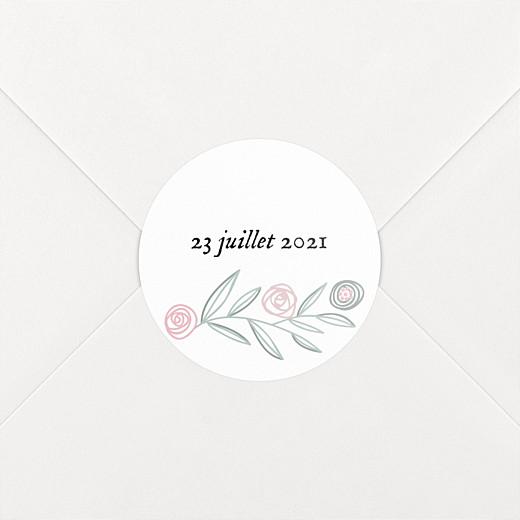 Stickers baptême Douceur champêtre blanc - Vue 2
