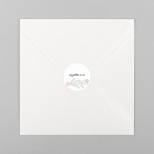 Stickers baptême Douceur champêtre blanc - Vue 1