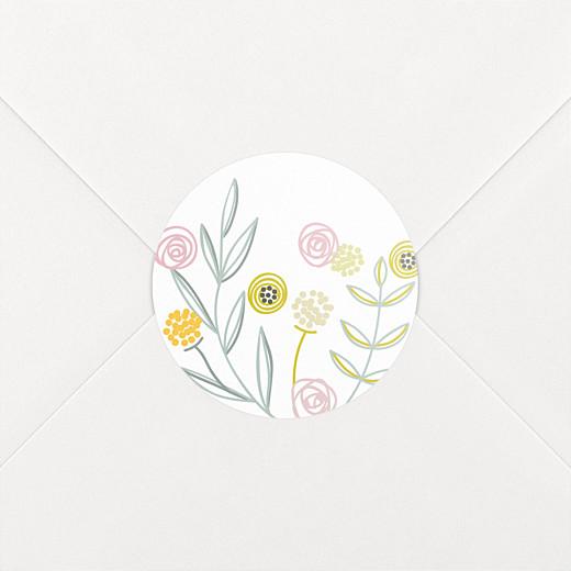 Stickers pour enveloppes baptême Douceur champêtre blanc - Vue 2