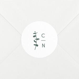 Stickers pour enveloppes mariage Eucalyptus blanc