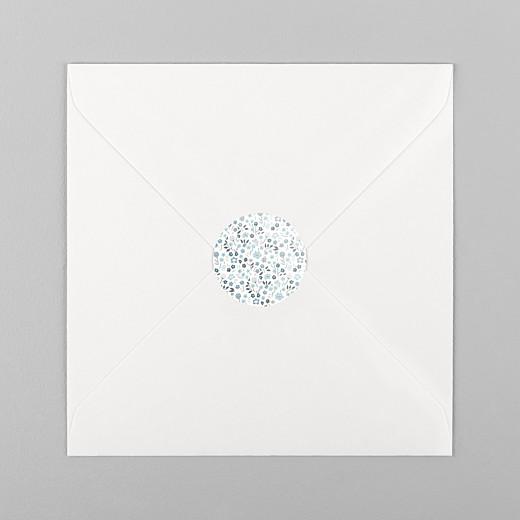 Stickers pour enveloppes baptême Liberty origami étoile bleu - Vue 1