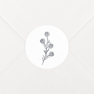 Stickers mariage laure de sagazan blanc
