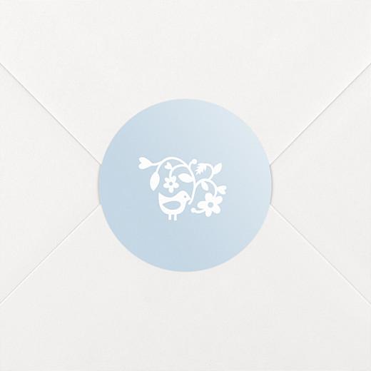Stickers baptême Comptine bleu - Vue 2
