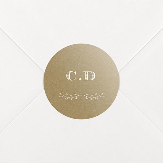 Stickers pour enveloppes baptême Poème kraft - Vue 2