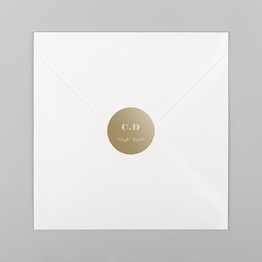 Stickers pour enveloppes baptême Poème kraft - Vue 1