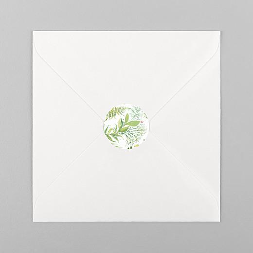 Stickers baptême Murmure vert - Vue 1