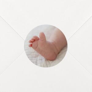 Stickers pour enveloppes baptême Photo blanc