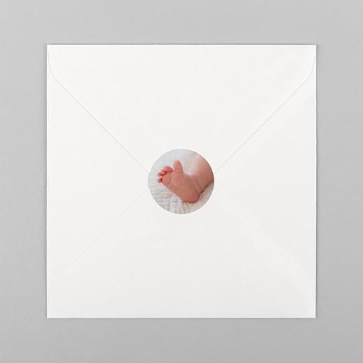 Stickers pour enveloppes baptême Photo blanc - Vue 1