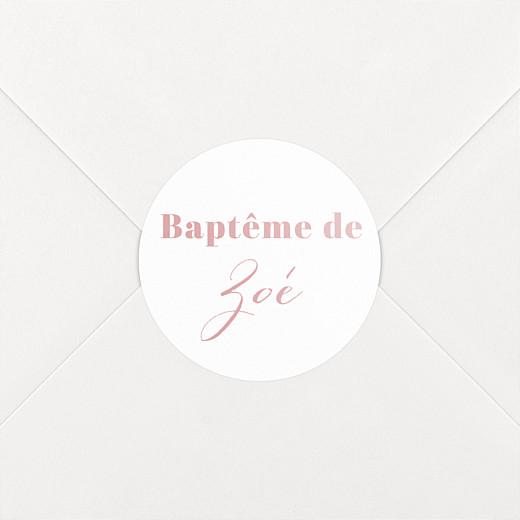 Stickers pour enveloppes baptême Classique blanc - Vue 2