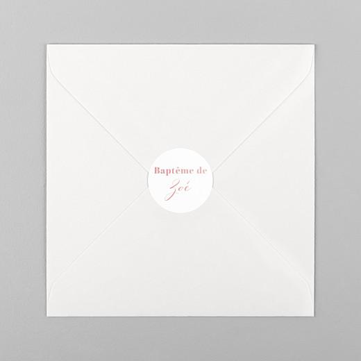 Stickers pour enveloppes baptême Classique blanc - Vue 1
