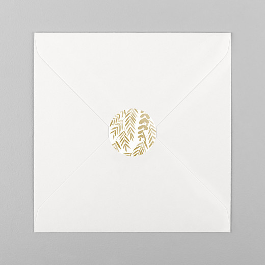 Stickers mariage Feuillage or - Vue 1