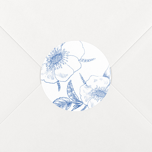 Stickers mariage Gravure chic bleu - Vue 2