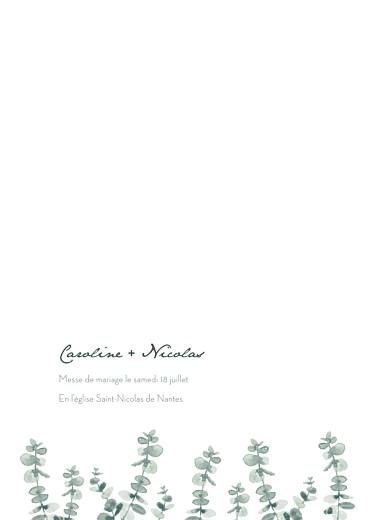 Livret de messe mariage Eucalyptus blanc