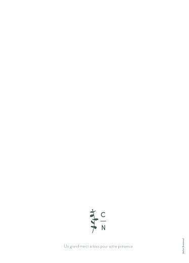 Livret de messe mariage Eucalyptus blanc - Page 4