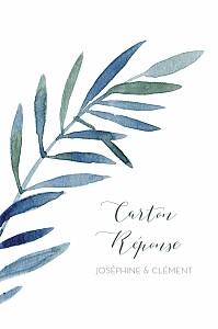 Carton réponse mariage classique belle saison bleu