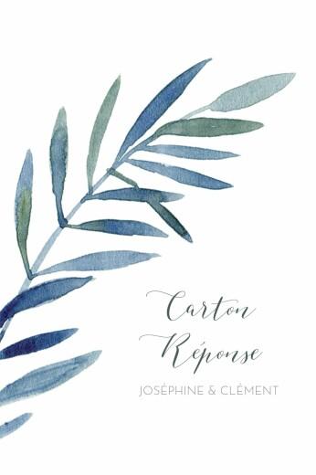 Carton réponse mariage Belle saison bleu