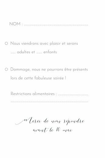 Carton réponse mariage Belle saison bleu - Page 2
