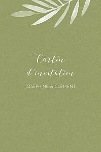 Carton d'invitation mariage classique belle saison bleu