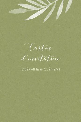 Carton d'invitation mariage Belle saison bleu