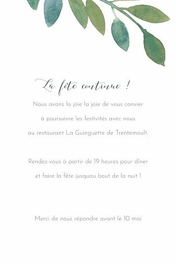 Carton d'invitation mariage Belle saison bleu - Page 2