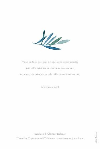 Carte de remerciement mariage Belle saison bleu - Page 2