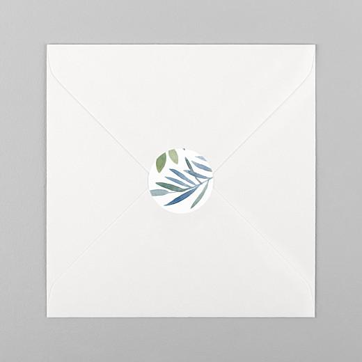 Stickers pour enveloppes mariage Belle saison blanc - Vue 1